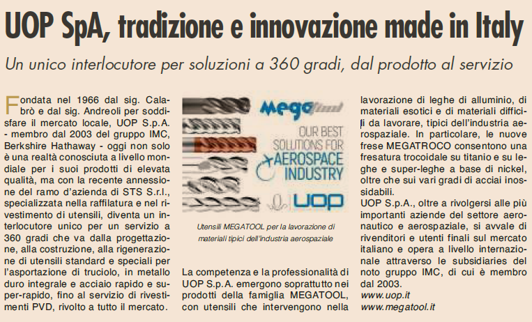 UOP S.p.A, tradizione e innovazione made in Italy